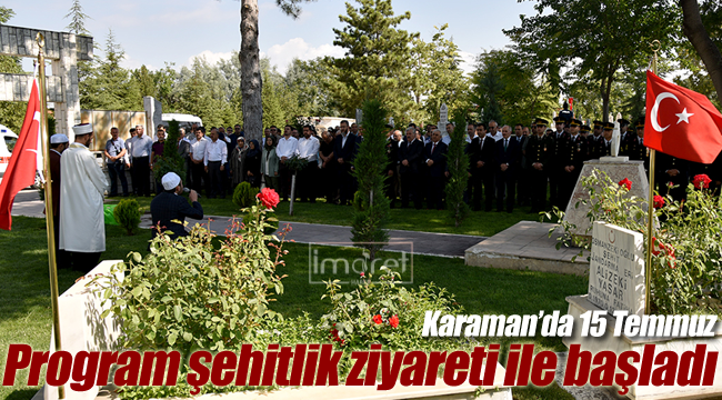 Karaman'da 15 Temmuz