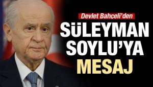 Bahçeli'den Süleyman Soylu'ya tebrik