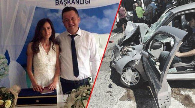 Kahreden kaza genç çifti ayırdı