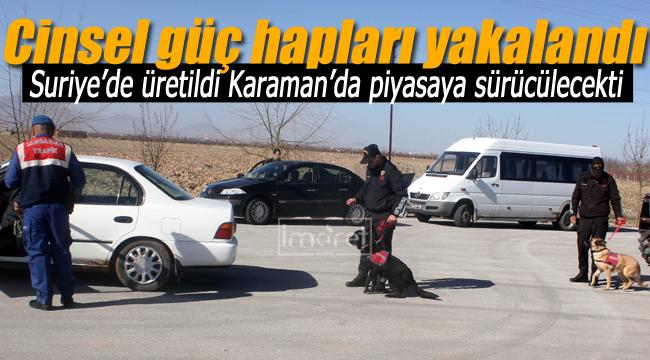 Karaman'da cinsel güç artırıcı hap operasyonu