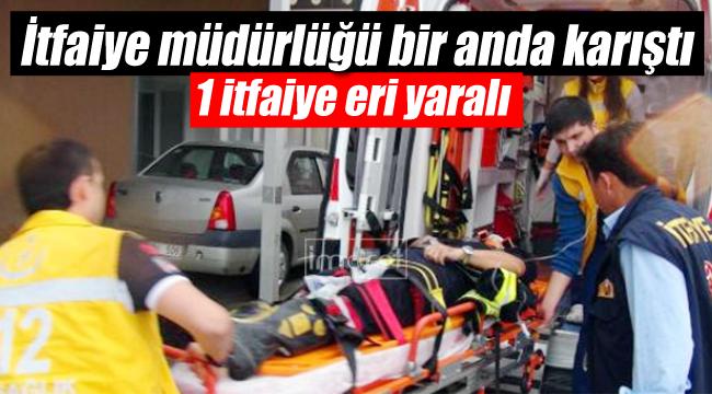 Karaman'da itfaiye müdürlüğü bir anda karıştı 1 yaralı