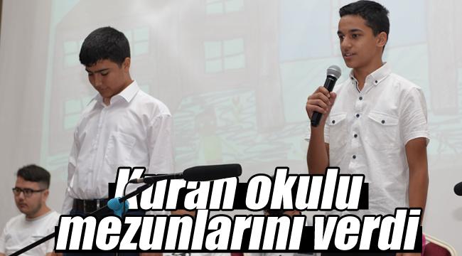 Kuran okulu kapanış programı yapıldı