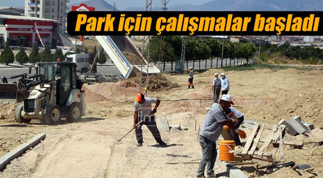 Park için çalışmalar başladı