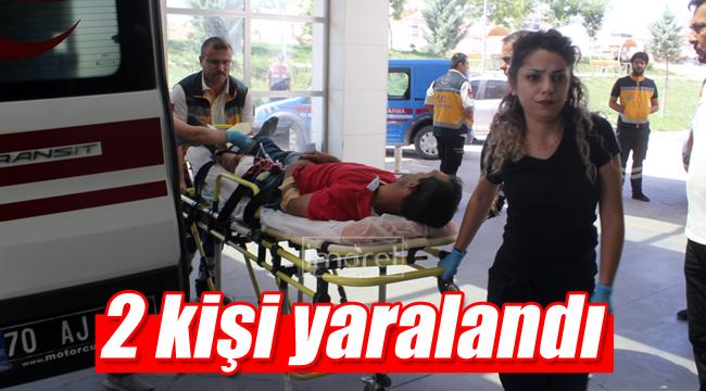 Tırla çarpıştılar 2 kişi yaralı