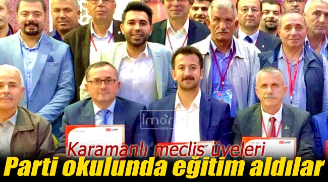 CHP'li meclis üyeleri eğitim aldı