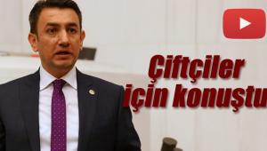 CHP'li vekil çiftçiler için genel kurulda söz aldı