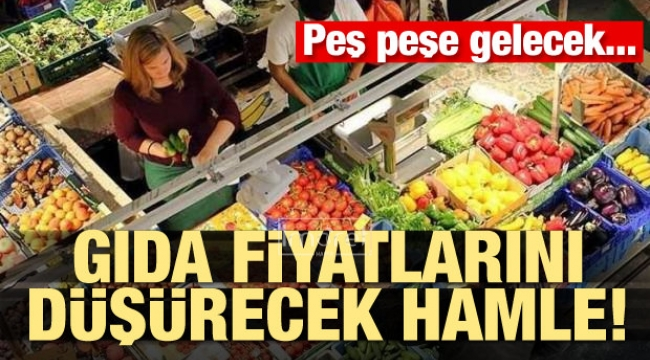 Gıda fiyatlarını düşürecek hamle! Peş peşe gelecek