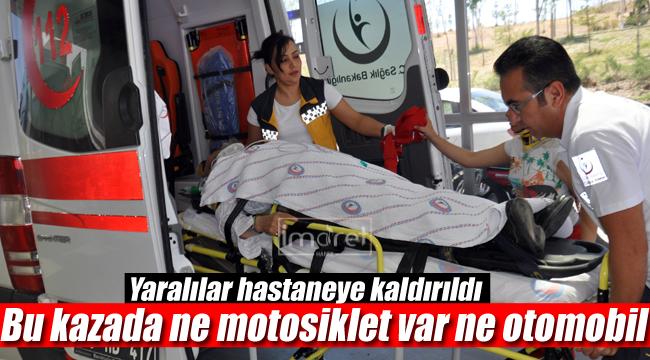 Karaman'da ilginç kaza