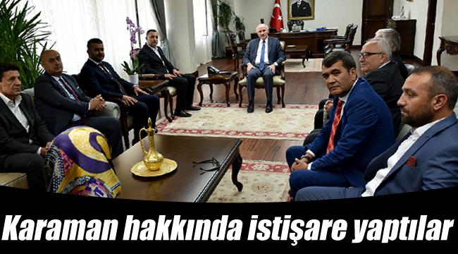 MHP il yönetimi Vali Meral ile bir araya geldi