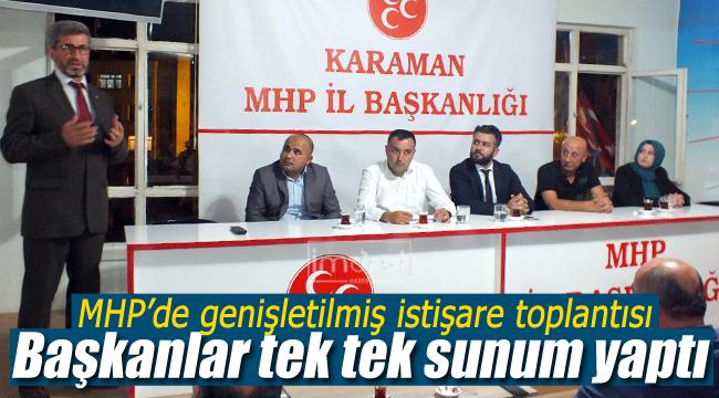 MHP'li başkanlar tek tek sunum yaptı