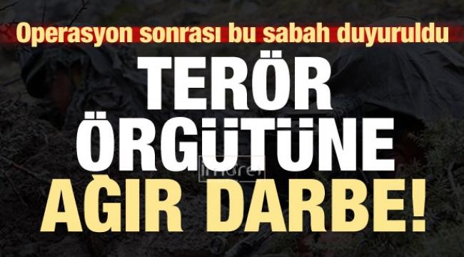 Operasyon sonrası PKK'ya sınır ötesinde ağır darbe!