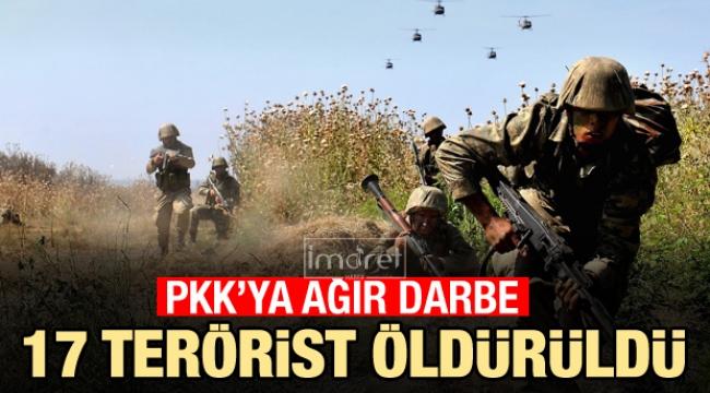 PKK'ya hava harekatı! 17 terörist öldürüldü