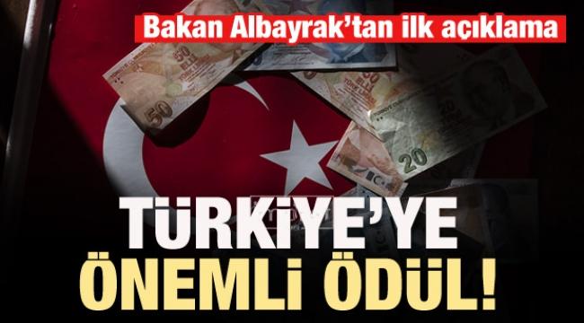 Türkiye'ye önemli ödül!