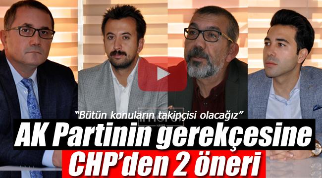 AK Partinin gerekçesine CHP'den 2 teklif