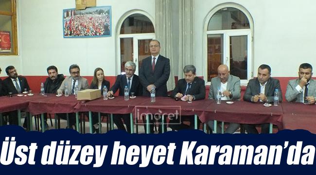 Üst düzey heyet Karaman'da