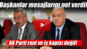 Başkan net mesaj verdi AK Parti kimsenin iş rant kapısı değil