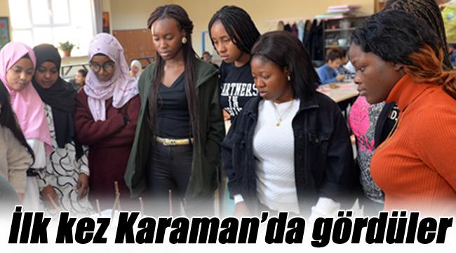 İlk kez Karaman'da gördüler