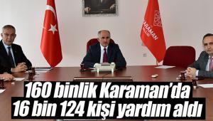 Karaman'da 2019 yılında 16 bin kişi yardım aldı