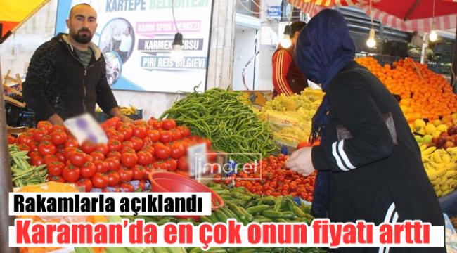 Karaman'da fiyatı artan ve düşen ürünler belli oldu