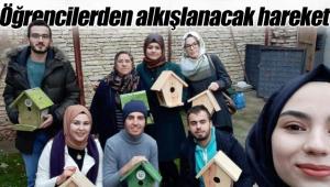 Karaman'daki öğrencilerden alkışlanacak hareket