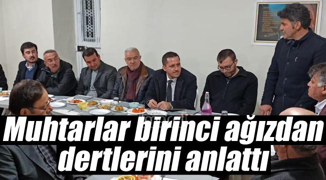 AK Parti yönetimi muhtarları dinledi