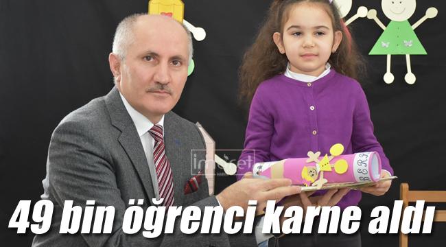 Karaman'da 49 bin öğrenci karne aldı