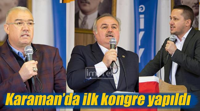 Karaman'da ak partinin ilk kongresi yapıldı
