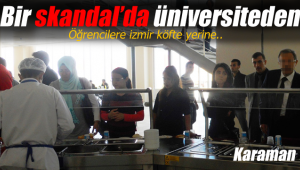 Karaman'da bir skandalda üniversiteden