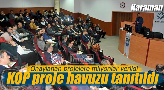 Karaman'da KOP Proje Havuzu tanıtıldı