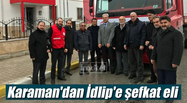 Karaman'dan İdlip'e şefkat eli