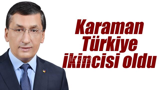 Karaman Türkiye ikincisi oldu