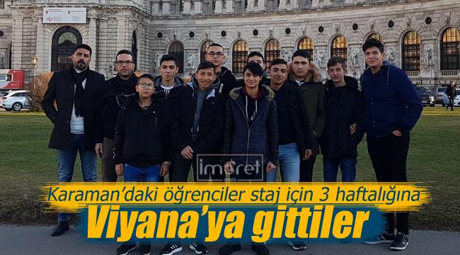 Karamanlı öğrenciler staj için Viyana'da