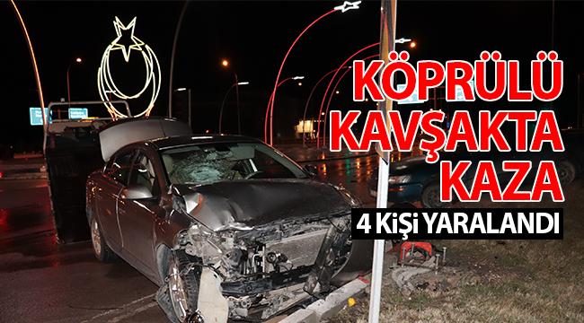 Karaman'da trafik kazası, 4 yaralı