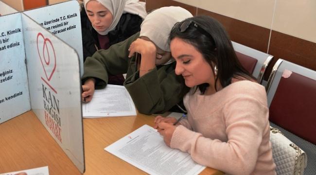 KMÜ Öğrencilerinden 205 Ünite Kan Bağışı