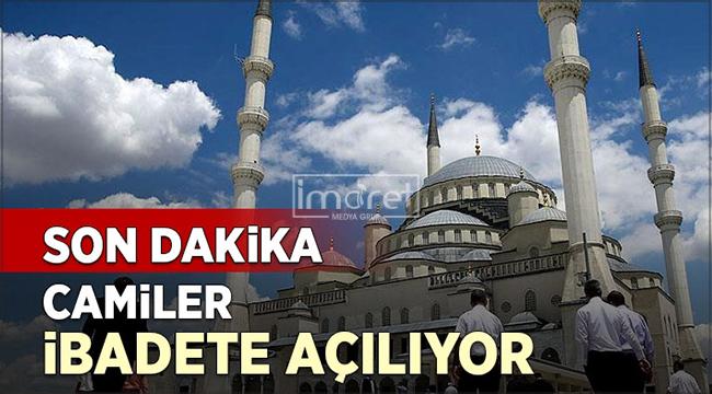 Cumhurbaşkanı Erdoğan camilerin açılacağı tarihi açıkladı