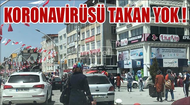 Karaman'da cadde ve sokaklar doldu taştı