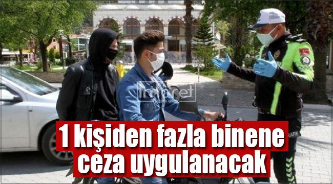 Karaman'da motosikletlere 2 kişi binmek yasaklandı