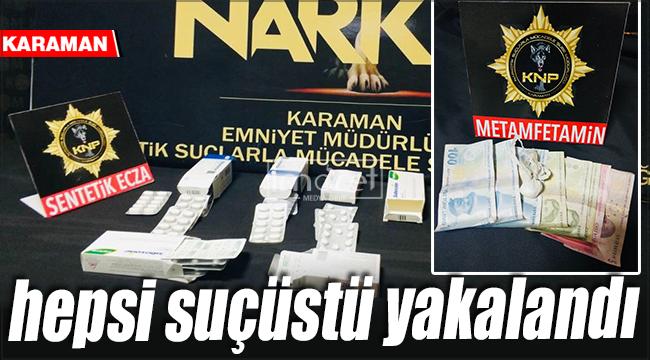 Karaman'da yakalanan 4 kişi adliyeye sevk edildi