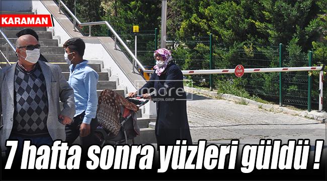 Karaman'da yaşlıların 7 hafta sonra yüzleri güldü