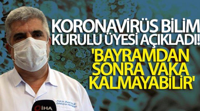 Koronavirüs Bilim Kurulu Üyesi Prof. Dr. İlhami Çelik: 'Bayramdan sonra vaka kalmayabilir'