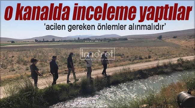 CHP İl Teşkilatı kanal boyunda inceleme yaptı