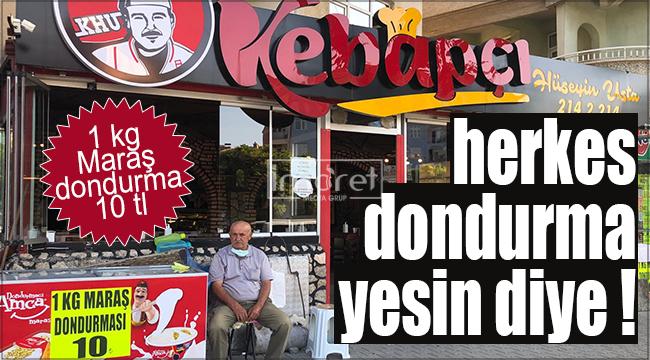 Dondurmacı Amca Karaman'da ! 1 kg Maraş dondurma 10 TL