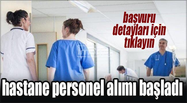 İŞKUR hastane personel alımı başladı