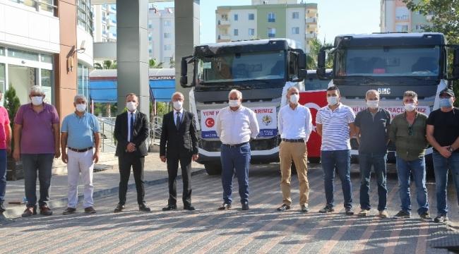 Erdemli Belediyesi, araç filosuna 5 yerli üretim kamyon ...