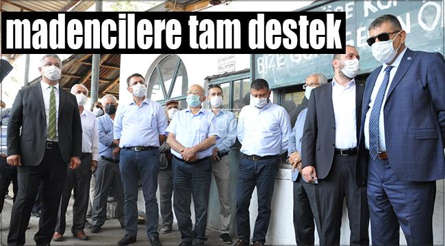 İyi Parti ve CHP'li vekillerden madencilere tam destek
