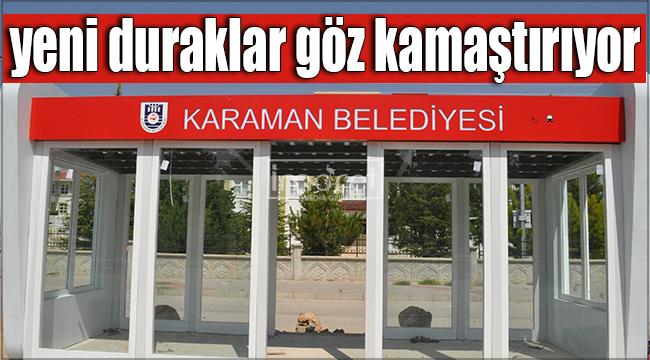 Karaman'a yakışır yeni otobüs durakları