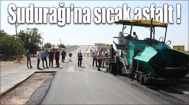 Sudurağı yoluna 2,4 kilometrelik sıcak asfalt