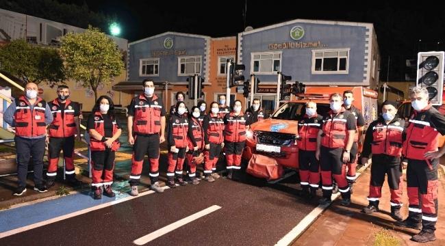 Bahçelievler Belediyesi Deprem Arama Kurtarma Birliği İzmir'e hareket etti