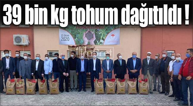 Karaman'da 39 bin kg. Macar fiği tohumu dağıtımı yapıldı