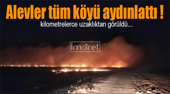 Karaman'da çıkan yangın güçlükle kontrol altına alındı